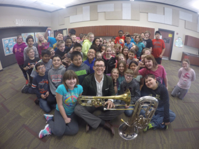 liberty elementary, ottumwa, iowa, will baker, trombone, education
