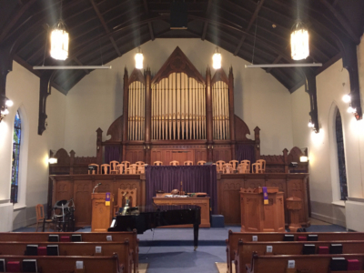 burlington, recital, bass bone, zion united, church