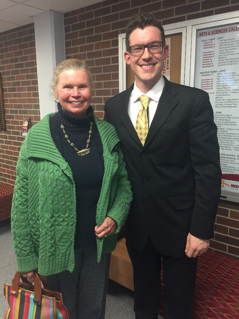 After the Ottumwa Performance with SEISO board member Joyce Kramer