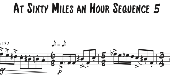 At Sixty Miles an Hour Sequence 5