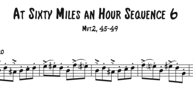 At Sixty Miles an Hour Sequence 6